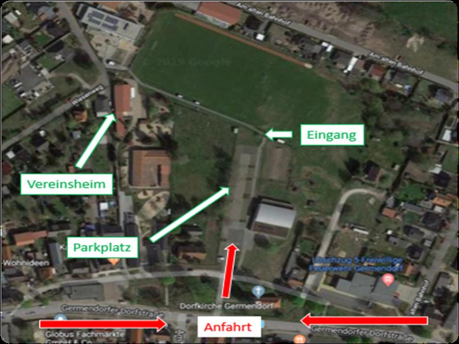 Anfahrt Sportplatz