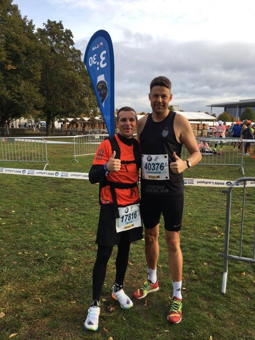 Dennis (li.) & Chris beim Berlin Marathon am 29.09.20